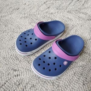 Crocs Blue & Lilac Shoes Sz J3